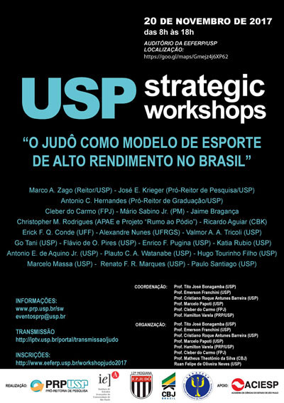 """Foi realizado nas magníficas instalações da Escola de Educação Física e  Esporte de Ribeirão Preto (EEFERP USP), o Workshop """"Ciência e Esporte  O  Judô como ... 9698616d81"""